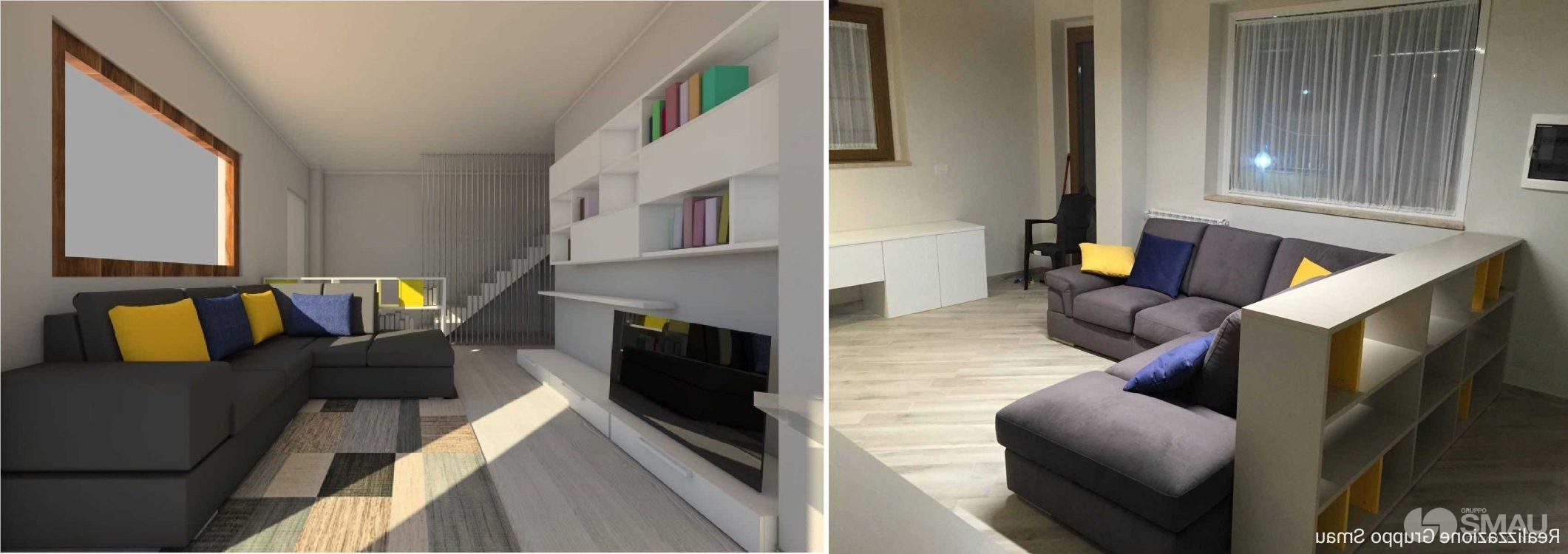 realizzazione cucina e soggiorno appartamento roma est