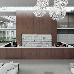 Arredo Ufficio Reception - Linea Qubo (1)