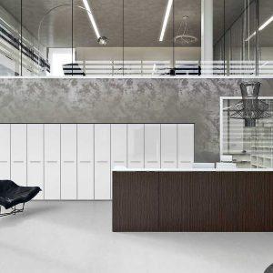 Arredo Ufficio Reception - Linea Qubo (2)