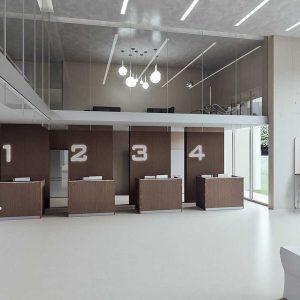 Arredo Ufficio Reception - Linea Qubo (5)