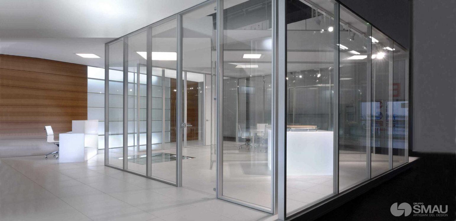 Pareti Divisorie Mobili Vetro : Pareti divisorie in vetro gruppo smau