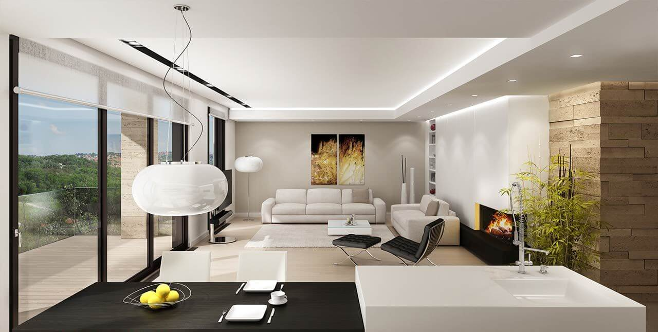 Realizzazione Render Casa Privata Eur (1)
